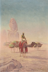 egyptische caravane by f. percy