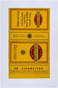 capstan; star; ardath; gold flake (set of 4 from fag packets) by peter blake
