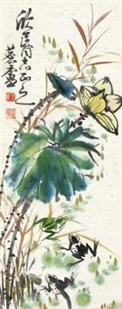 花趣图 立轴 设色纸本 by xu linlu