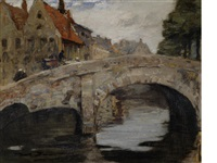 an old bridge, bruges by mark senior