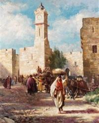jaffa gate, jerusalem by isaac snowman