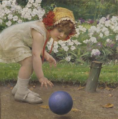 a girl with a ball by frantisek dvorak