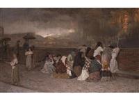 la pioggia di cenere sul vesuvio - der aschenregen des vesuv by gioacchino toma