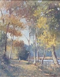 paysage à l'étang by maurice bismuth lemaître