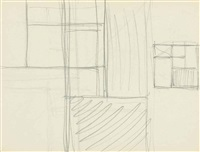 sketchbook. sheet f: two square compositions by piet mondrian