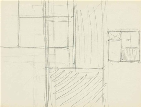 sketchbook sheet f two square compositions by piet mondrian