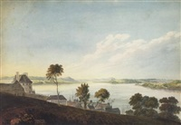 the st. lawrence river from the upper town, quebec by benjamin (major-general) fisher