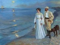 måneskinsaften på skagen strand (after p. s. krøyer) by alexander akopov