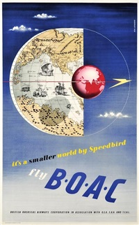 fly boac, it's a smaller world by speedbird by beverly pick