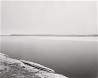 concrete and ice, missouri river, clay county, south dakota by robert adams