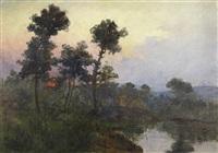paisagem com lago by artur alves cardoso