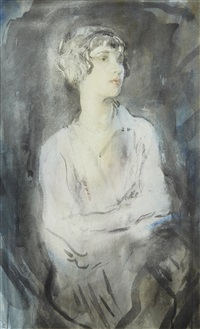 portrait of a lady, thought to be dame gladys cooper by ambrose mcevoy