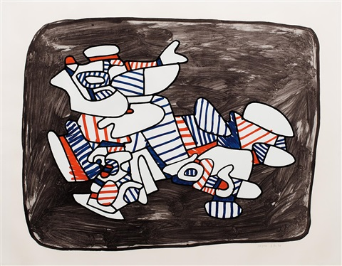 lion heraldique by jean dubuffet