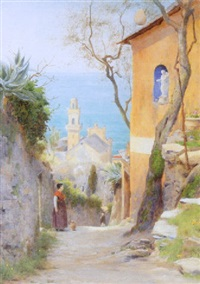 a street in amalfi by george marks