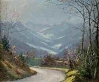 matin au printemps sur la route de pinsol, glacier des gleyzins by etienne albrieux