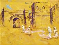 passants devant les oudayas, rabat - maroc by patrice laurioz
