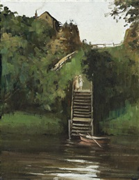 steps at studley park by alexander colquhoun