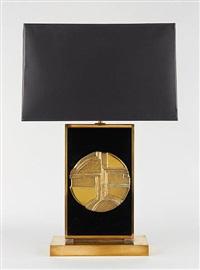 lampe à poser en laiton et plexiglas by christian krekels