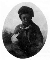a black boy smoking a pipe by julius gollmann