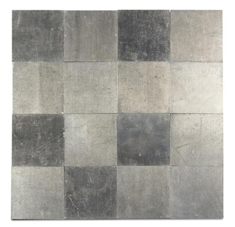 16 small aluminum square by carl andre