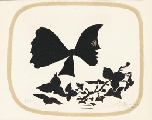 tête et feuilles by georges braque