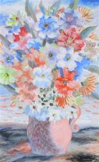 still life, bouquet by jean-philippe dallaire