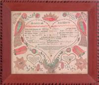 fraktur dated for philipp vogele by johann jacob friedrich krebs