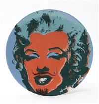 l.h.o.o.q., marilyn monroe plate by mike bidlo