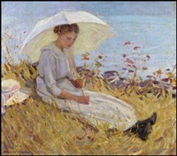 girl with parasol by helen galloway mcnicoll