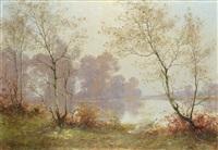 paisaje con lago by albert gabriel rigolot