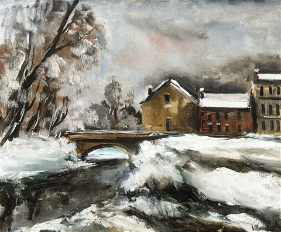 neige à valmondois by maurice de vlaminck
