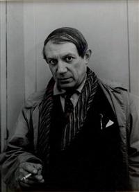 portrait de pablo picasso by andré rogi