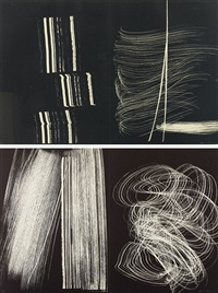 l 1970-3-farancole (+ l 1970-5-farandole; set of 2) by hans hartung