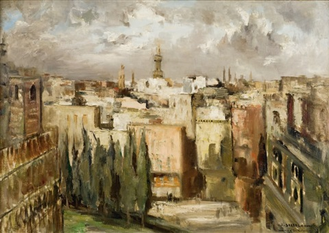 panorama du caire mosquée dibn touloun by georges hanna sabbagh