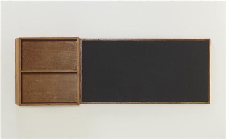 bookshelf and blackboard, designed for la chambres d'étudiant del la maison du brésil, cité internationale universitaire de paris by le corbusier