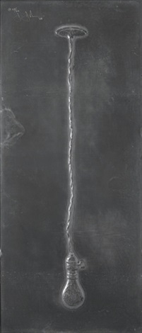 light bulb from lead reliefs by jasper johns