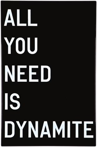 untitled all you need is dynamite by rirkrit tiravanija