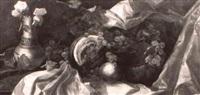 stilleben mit trauben und melone by antonio muzzi