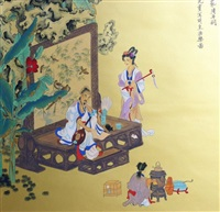 chinese painting by ren zhong