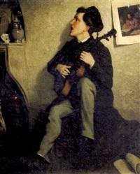 jeune musicien by a. dugelay