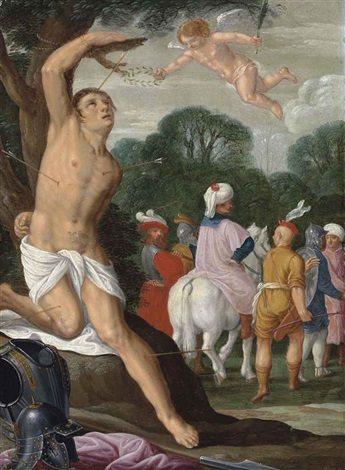 the martyrdom of saint sebastian by johann hans konig