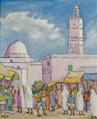la mosquée à tunis by yahia turki