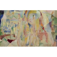 la ville de paris (sketch) by robert delaunay