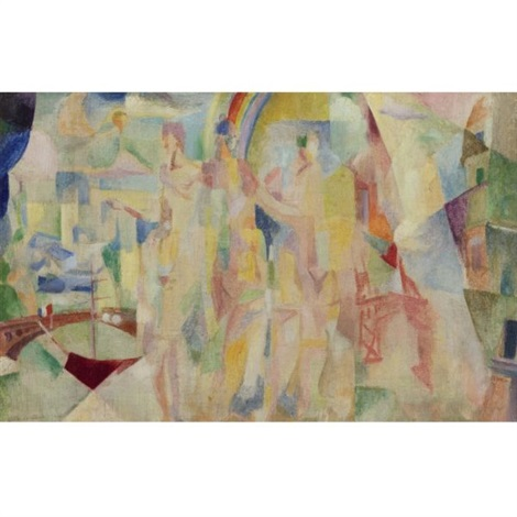 la ville de paris sketch by robert delaunay