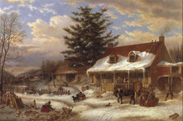 early canadian homestead by cornelius david krieghoff