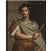 portrait of julius caeser holding a baton by bernardino campi