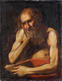 san girolamo in meditazione by hendrick van somer