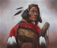 native american portrait by troy denton