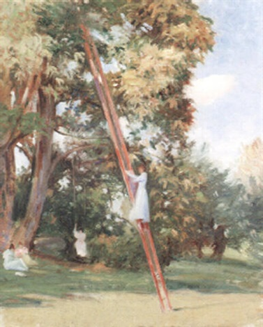old chestnut trees at portledge by theodore wendel