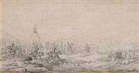 arrivée de l'empereur napoléon ier à la chapelle saint-antoine by pierre martinet